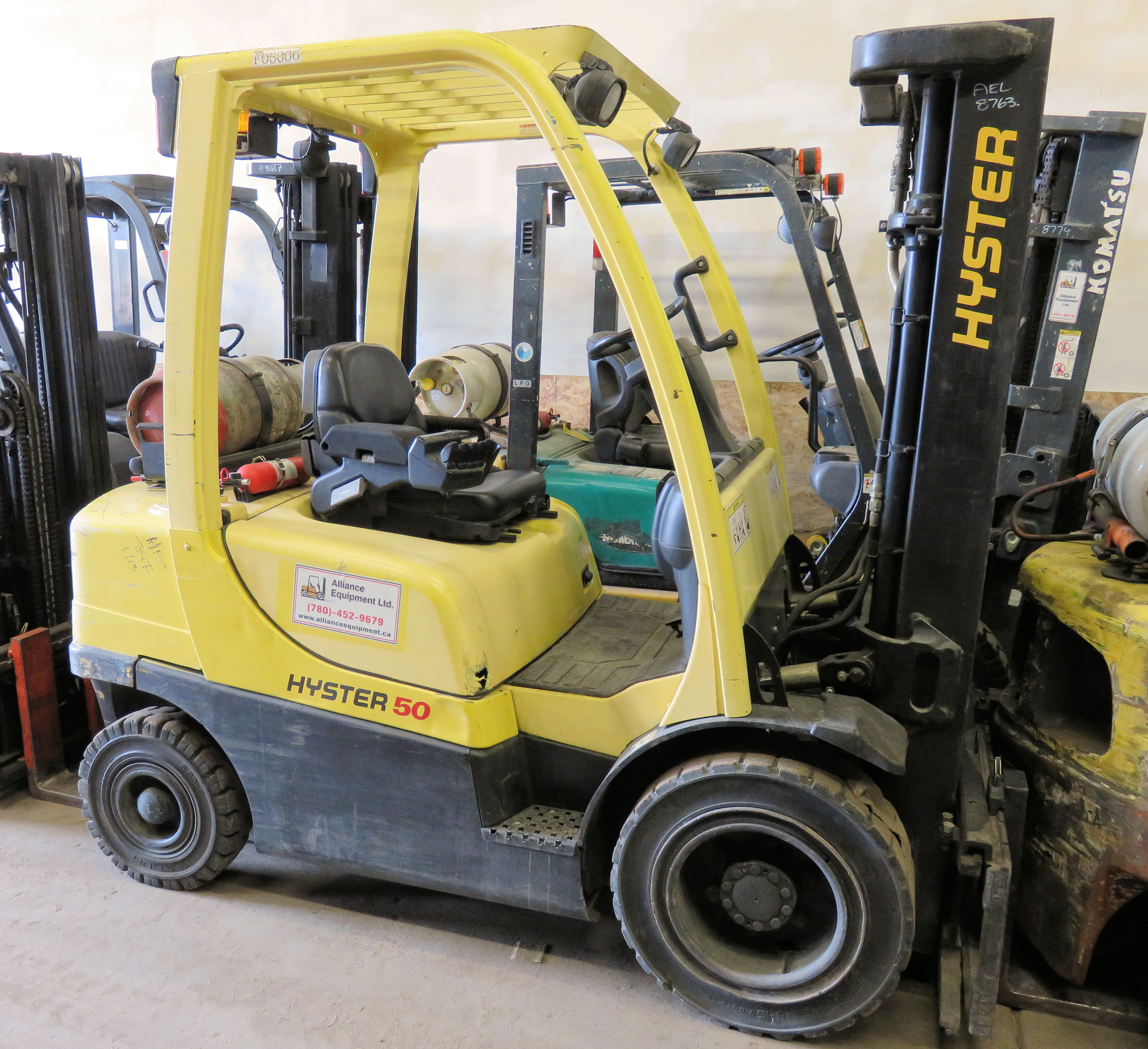 8763 - Hyster H50FT - Alliance Equipment - Serving Northern